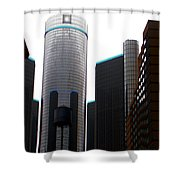 Downtown Detroit Through Joey's Eyes Shower Curtain