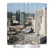 Downtown Fort Worth Skyline Shower Curtain