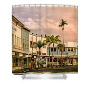Downtown Hilo Sunday Morning Shower Curtain