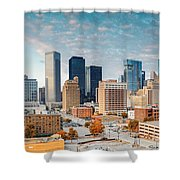 Downtown Houston Panorama Shower Curtain