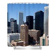 Downtown Houston Texas Shower Curtain