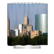 Downtown Indianapolis Indiana Shower Curtain