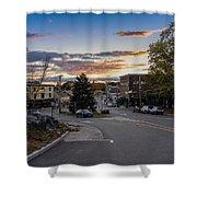 Downtown Ipswich Sunset Shower Curtain