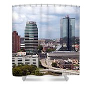 Downtown Knoxville Tennessee Skyline Shower Curtain