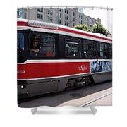 Downtown Light Rail Toronto Ontario Shower Curtain