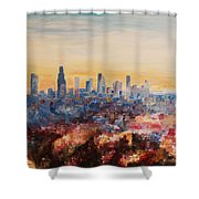 Downtown Los Angeles At Dusk Shower Curtain