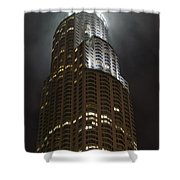 Downtown Los Angeles In The Fog Shower Curtain