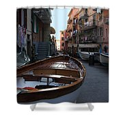 Downtown Manarola Shower Curtain
