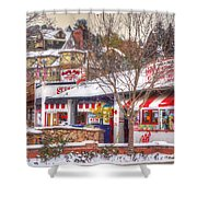 Patsy's Candies In Snow Shower Curtain