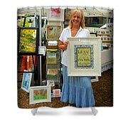Downtown Marketplace Show Shower Curtain