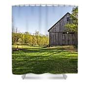 Downtown Metropolitan Etna Nh Shower Curtain by Edward Fielding
