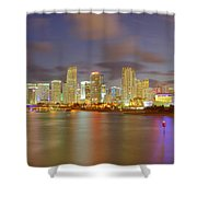 Downtown Miami And Aaa Shower Curtain