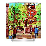 Downtown Montreal Mcgill University Streetscenes Shower Curtain