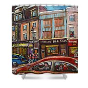 Downtown Montreal Streetscene Shower Curtain