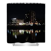 Downtown Morgantown From The Waterfront Shower Curtain