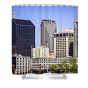 Downtown New Orleans Buildings Shower Curtain by Paul Velgos