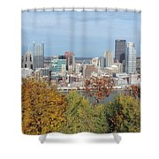 Downtown Pittsburgh From Mount Washington 4 Shower Curtain