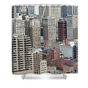 Downtown Pittsburgh From Mount Washington Shower Curtain