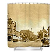 Downtown Port Chester Shower Curtain