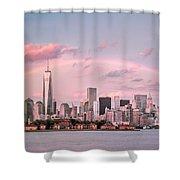 Downtown Rainbow Shower Curtain