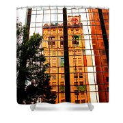 Downtown Reflection Shower Curtain