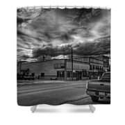 Downtown Sandpoint In Infrared 2 Shower Curtain