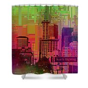 Downtown Seattle Cubed 1 Shower Curtain