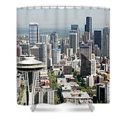 Downtown Skyline Of Seattle Shower Curtain