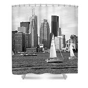 Downtown Skyline Of Toronto On Shower Curtain