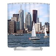 Downtown Skyline Of Toronto Ontario Shower Curtain
