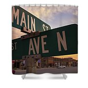 Downtown State Center Shower Curtain