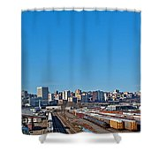 Downtown Tacoma View From The Rail Lines Shower Curtain