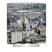 Downtown Tacoma Washington Shower Curtain