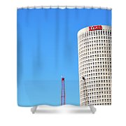 Downtown Tampa Photography - Leaning Tower Of Sykes - Sharon Cummings Shower Curtain
