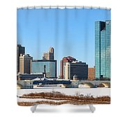 Downtown Toledo Riverfront 7132 Shower Curtain