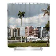 Downtown West Palm Beach Shower Curtain