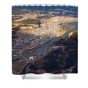 Downtown Whitehorse Yukon Territory Canada Shower Curtain