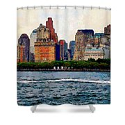 Downtown With Edward Shower Curtain