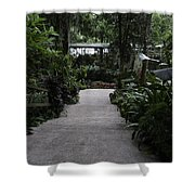 Downward Sloping Part Inside The National Orchid Garden In Singapore Shower Curtain