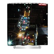 Dowtown Morgantown From Above Shower Curtain