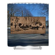 Dr. Isaac B. Cowen At The Little Compton Commons In Rhode Island Shower Curtain