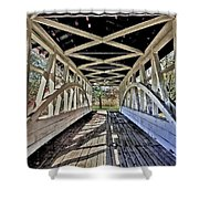 Dr. Knisely Covered Bridge Shower Curtain