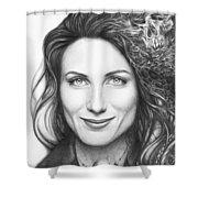 Dr. Lisa Cuddy - House Md Shower Curtain by Olga Shvartsur