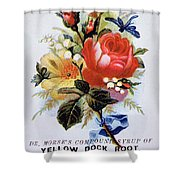 Dr Morse's Yellow Dock Root Syrup Shower Curtain