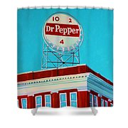 Dr Pepper Sign Roanoke Virginia Shower Curtain