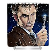 Dr Who #10 - David Tennant Shower Curtain
