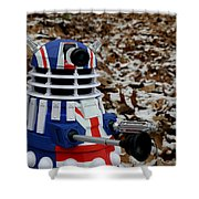 Dr Who - Forest Dalek Shower Curtain