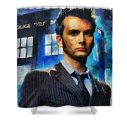 Dr Who Number 10  Shower Curtain