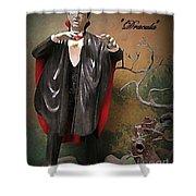 Dracula Model Kit Shower Curtain
