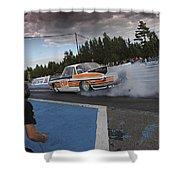 Drag Racing 3 Shower Curtain